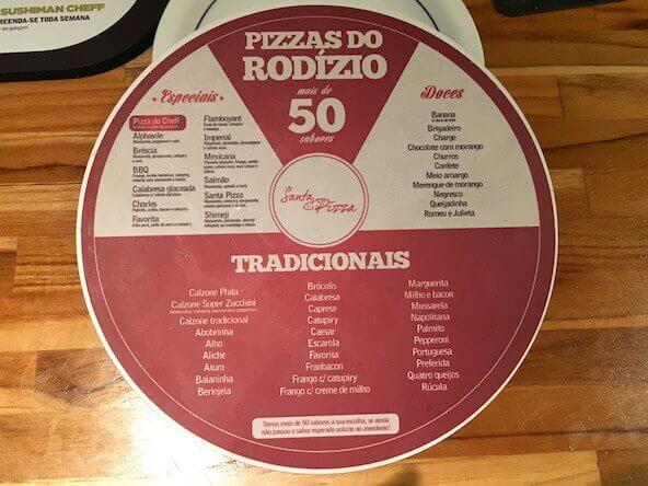 Mais de 50 sabores de pizza